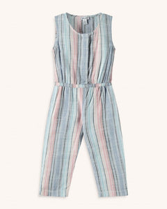 Splendid Toddler Girl Woven Stripe Jumpsuit - Multi Stripe - Bloom Kids Collection - Splendid