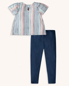 Splendid Toddler Girl Woven Stripe Top Set - Multi Stripe - Bloom Kids Collection - Splendid