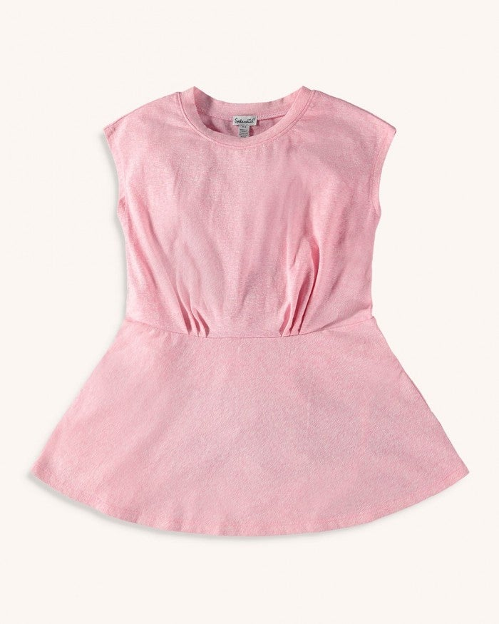 Splendid Toddler Girl Melange Slub Dress - Barefoot Pink - Bloom Kids Collection - Splendid
