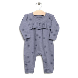 City Mouse Slub Spirals Romper - Periwinkle - Bloom Kids Collection - City Mouse
