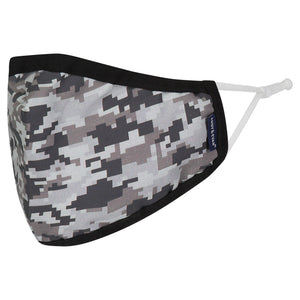 Andy & Evan 4 Pack Face Masks - 3 Layer with Filter Pocket - Black Stripe/Camo - Mens (Adult)
