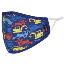 Andy & Evan 4 Pack Face Masks - 3 Layer with Filter Pocket - Rockets/Sharks (2T-7)