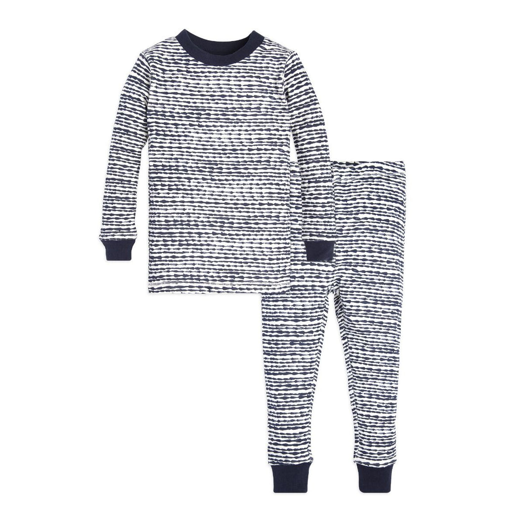 Burt's Bees Toddler Brush Strokes Tee & Pant Set - Midnight - Bloom Kids Collection - Burt's Bees