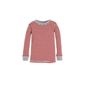 Burt's Bees Candy Cane Stripe Tee & Pant Set - Cranberry - Bloom Kids Collection - Burt's Bees