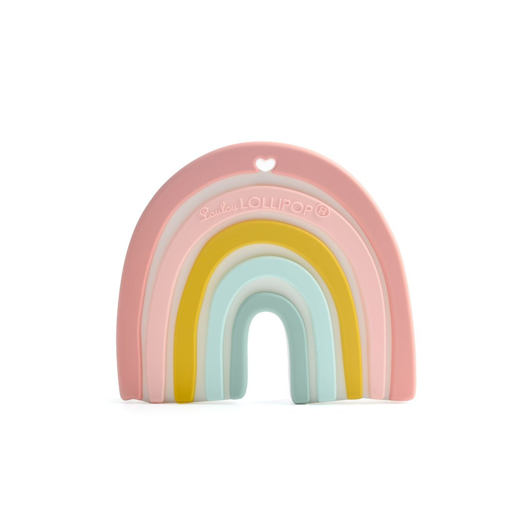 Loulou Lollipop Teether - Pastel Rainbow - Bloom Kids Collection - Loulou Lollipop