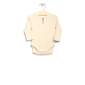 City Mouse Waffle Bodysuit - Natural - Bloom Kids Collection - City Mouse