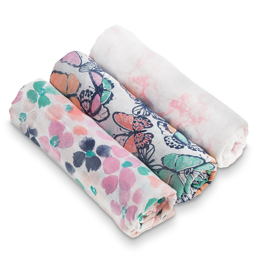 Aden + Anais Silky Soft Swaddles - Festival 3-pack - Bloom Kids Collection - Aden + Anais