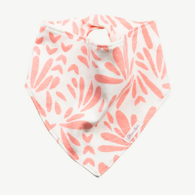 Oliver and Rain Floral Print Bandana Bib - Pink - Bloom Kids Collection - Oliver and Rain