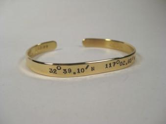 18k Yellow Gold 6mm Woman's Cuff Bracelet-Elizabeth Prior