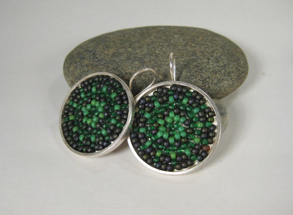 Woven Japanese Seed Bead Earrings