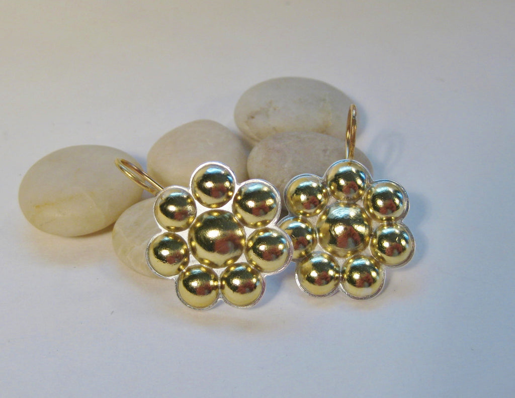 18k Gold Multi Dome Earrings