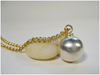 Sterling Silver Mooring Ball Charm on Chain