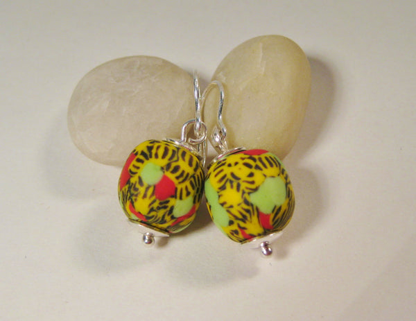 Contemporary African Bead Earrings