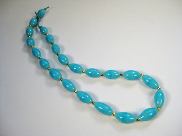 Handmade Turquoise Glass Beads