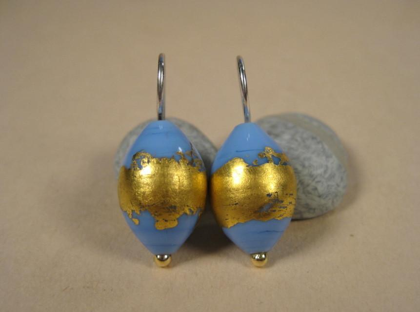 Flamework Periwinkle Earrings-Elizabeth Prior