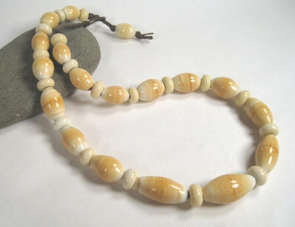 Ivory Melon Bead Necklace-Elizabeth Prior