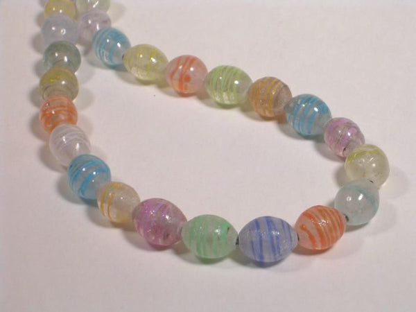 Pastel Melon Bead Necklace-Elizabeth Prior