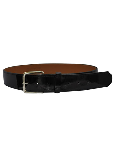 "ACS580-Patent Leather 1 1/2"" Black Belt"