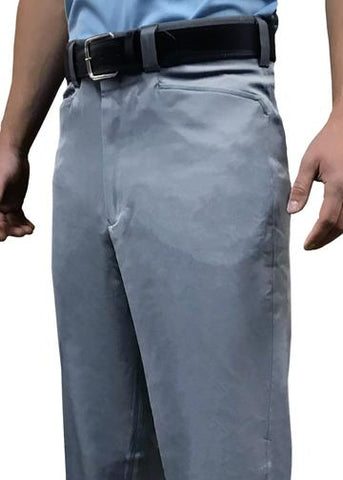 "BBS397-Smitty ""4-Way Stretch"" Flat Front Combo Pants-Heather Grey"