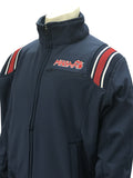 BBS330MI-Smitty Navy Major League Style All Weather Fleece Jacket with MHSAA Embroidered Logo