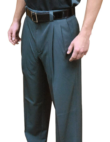 "BBS394- Smitty ""NEW EXPANDER WAISTBAND - 4-Way Stretch"" Pleated Base Pants-Charcoal Grey"