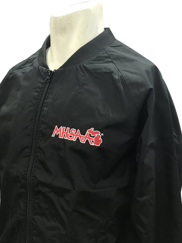 BKS220MI-Smitty Black Jacket with Full Front Zipper with MHSAA Embroidered Logo