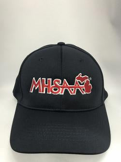 R550MI - Richardson - UMP Surge 550 - Navy 8 Stitch FITTED Hat with MHSAA Embroidered Logo