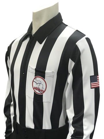 USA730MI - Smitty USA - Dye Sub Michigan Foul Weather Water Resistant Football Long Sleeve Shirt