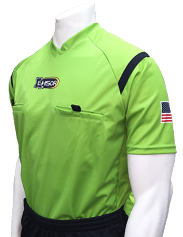 USA900LA GR-Dye Sub Louisiana Green Soccer Short Sleeve Shirt