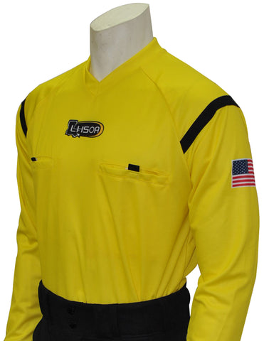 USA901LA YW- Dye Sub Louisiana Yellow Soccer Long Sleeve Shirt
