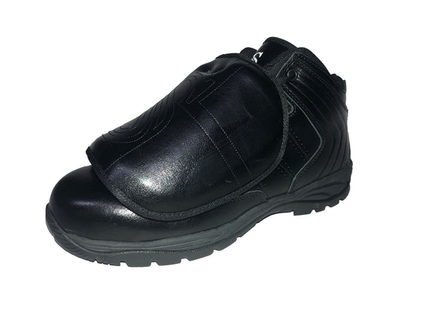 BBS-PS1 - Smitty All Black Mid-Cut Umpire Plate Shoe