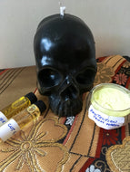 Black skull candle spellkit for protection