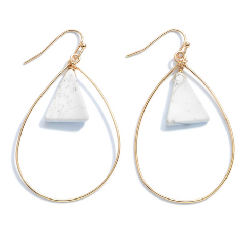 EMPOWERED | Teardrop with Marble Earrings