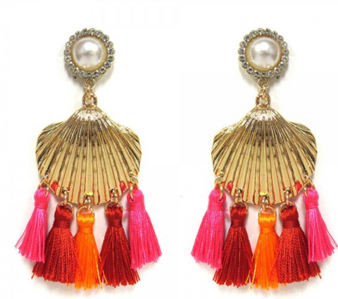 Seashell Tassel Earrings