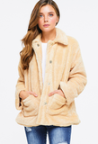 Beige Fuzzy Fleece