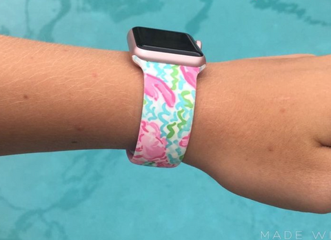 Sea Print Apple Watch Band