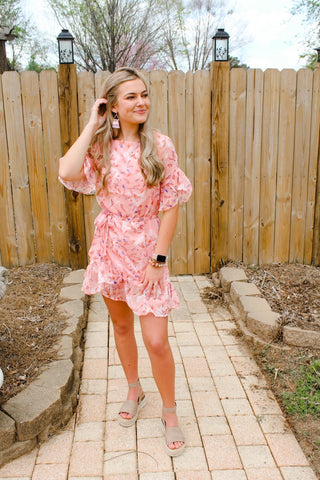 Pretty in Pink Print Dress