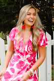 Fun in Fuchsia Floral Dress