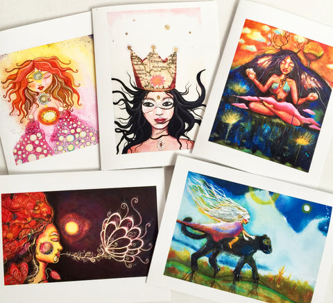 Feminine Journey, note card set