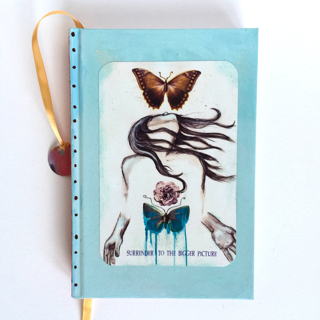 Surrender to The Bigger Picture, hand-painted Journal