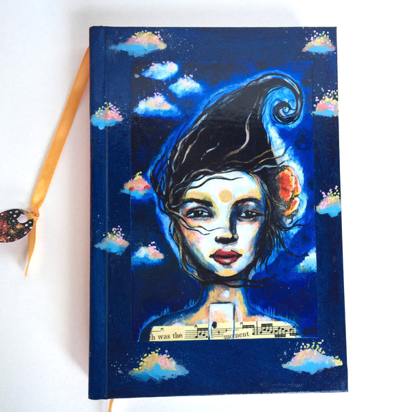 Queen of New Hope, hand-painted Journal
