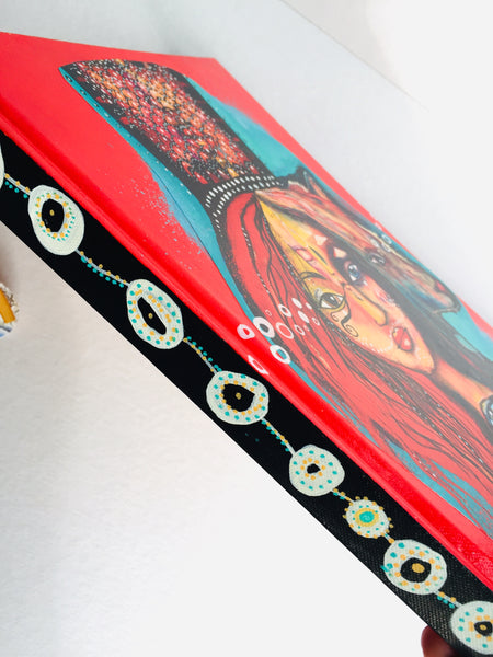 Medicine Woman, hand-painted Journal