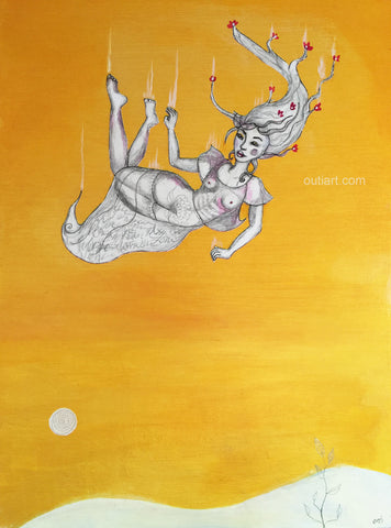 Soft Landing, original painting