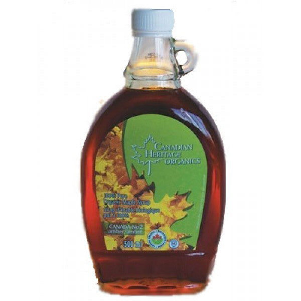 Canadian Heritage Organics Grade A Amber Organic Maple Syrup Rich, 500 mL