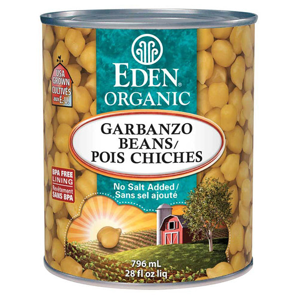 Eden Organic Garbanzo Beans, 796ml
