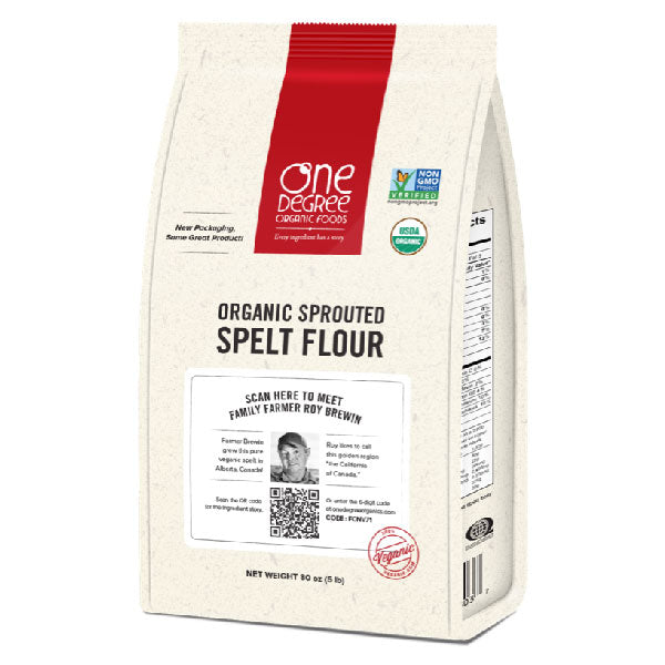 One Degree Organics Sprouted Spelt Flour, 907g