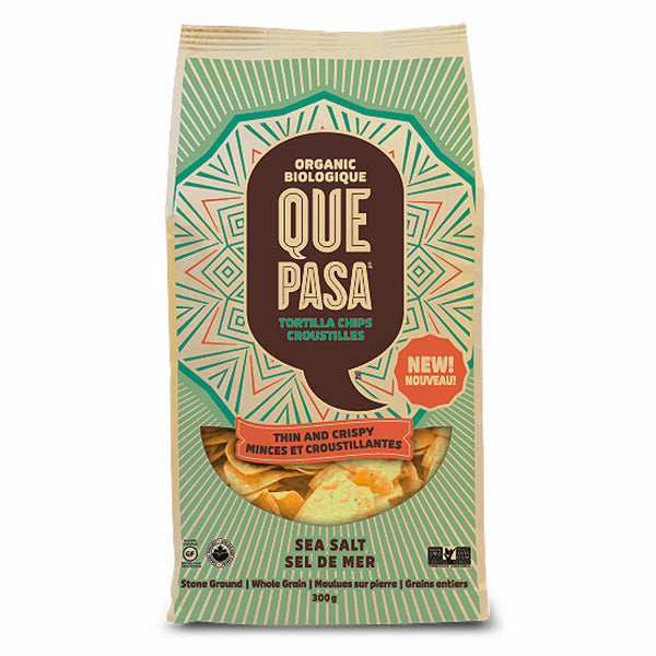 Que Pasa Thin and Crispy Sea Salt Corn Chips, 300g
