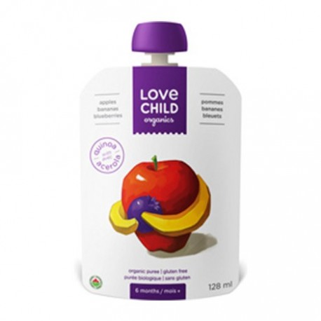 Love Child Organic Blueberries, Apples and Bananas, 128mL
