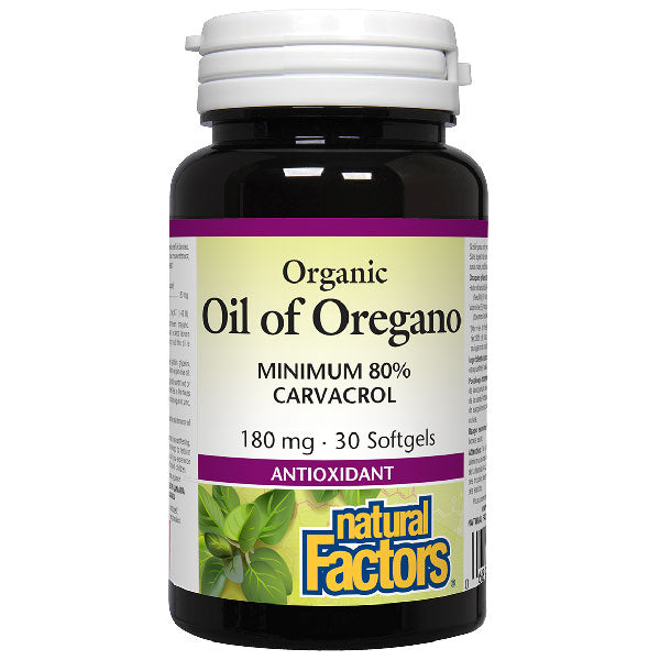 Natural Factors Oil of Oregano, 180 mg, 30 softgels