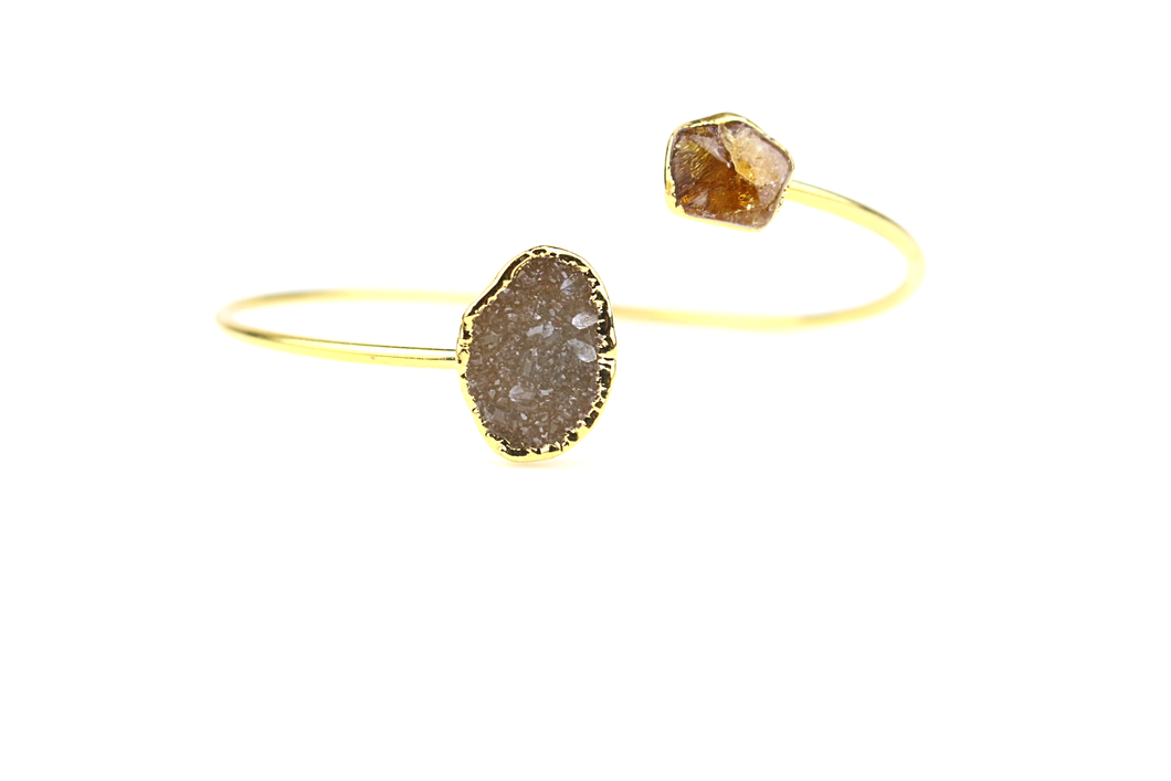 Sia Druzy and Citrine Bangle